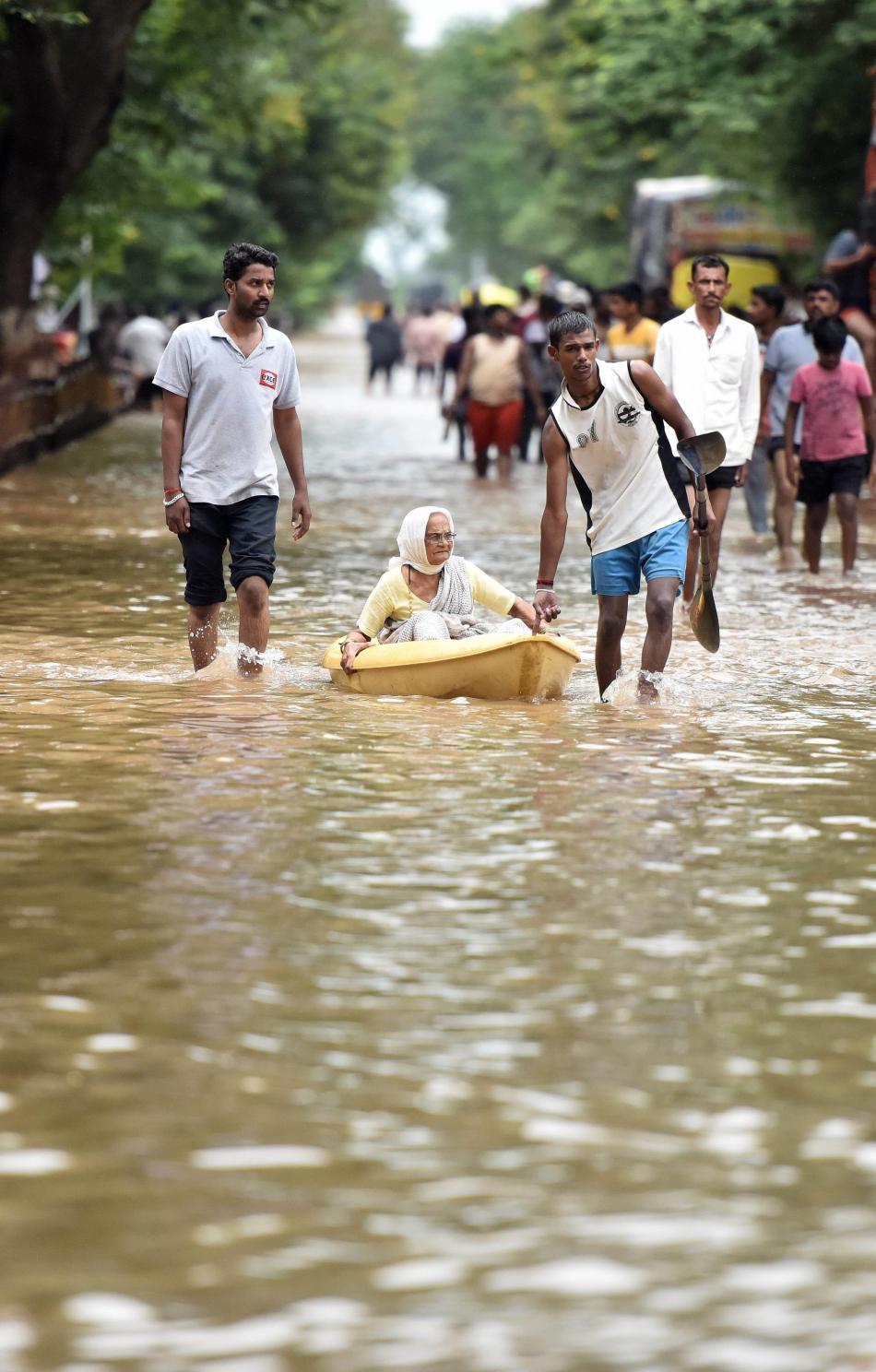 Záplavy ve městě Sangli