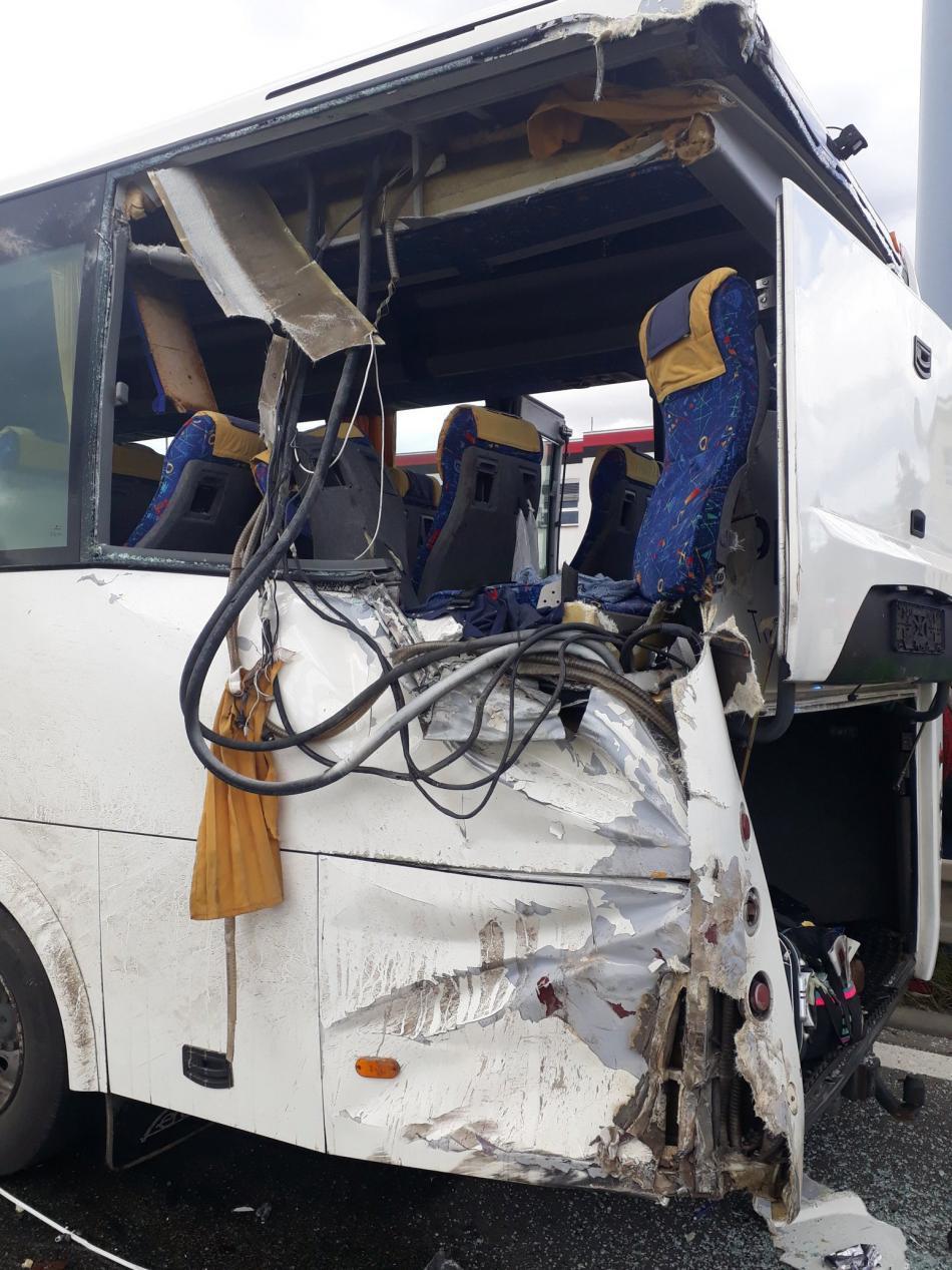 Nehoda autobusu v brněnské Vídeňské ulici