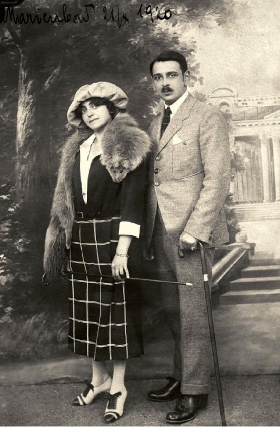Rudolf Jelínek s manželkou Irenou v roce 1920