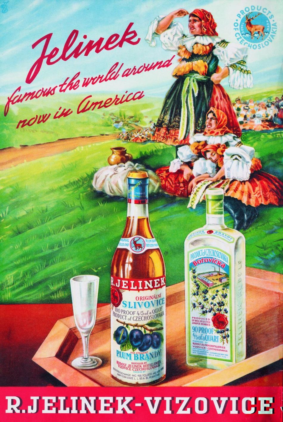 Reklamní plakát firmy Rudolf Jelínek