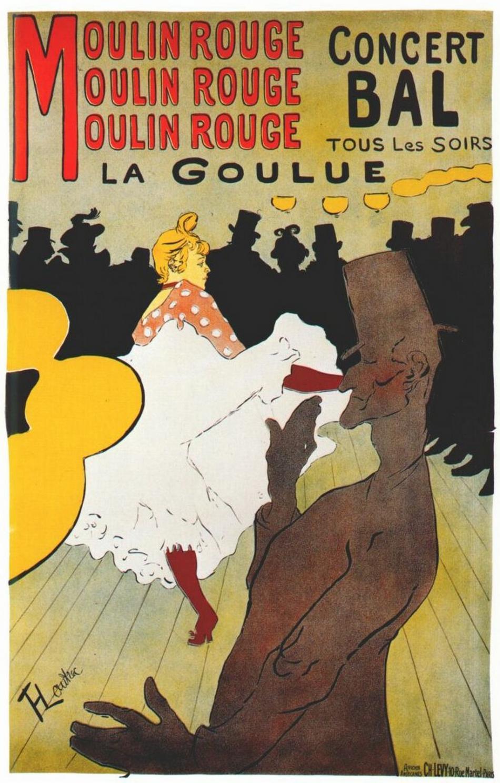 Plakát pro Moulin Rouge od Henriho de de Toulouse-Lautreca