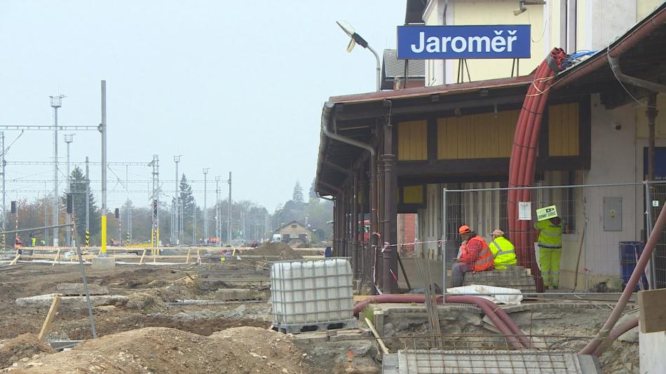 Rekontrukce nádraží v Jaroměři