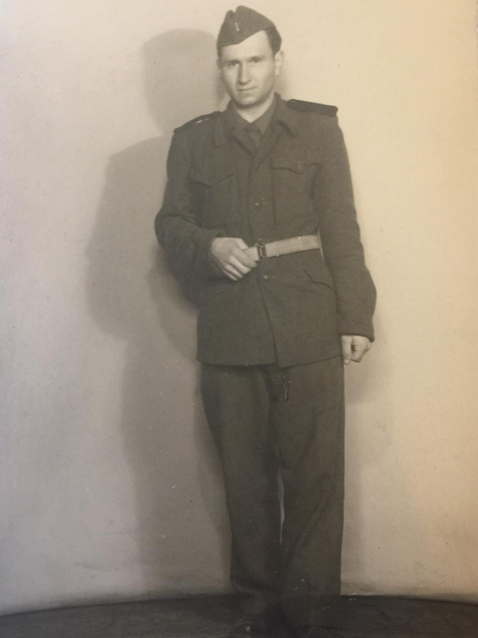 Josef Spáčil v uniformě PTP (1951)