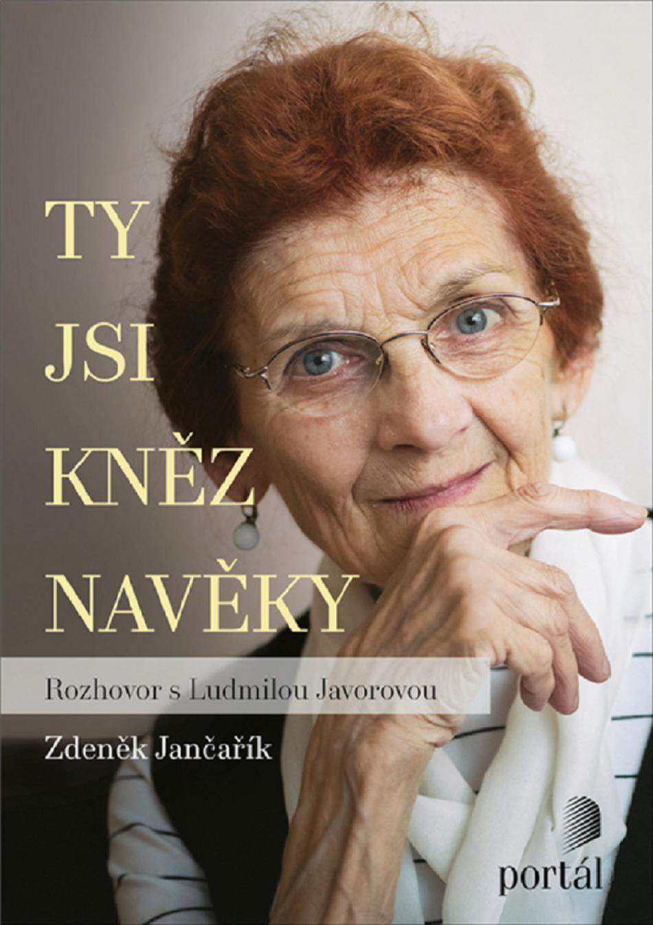 Ludmila Javorová, na obálce knihy Ty jsi kněz na věky