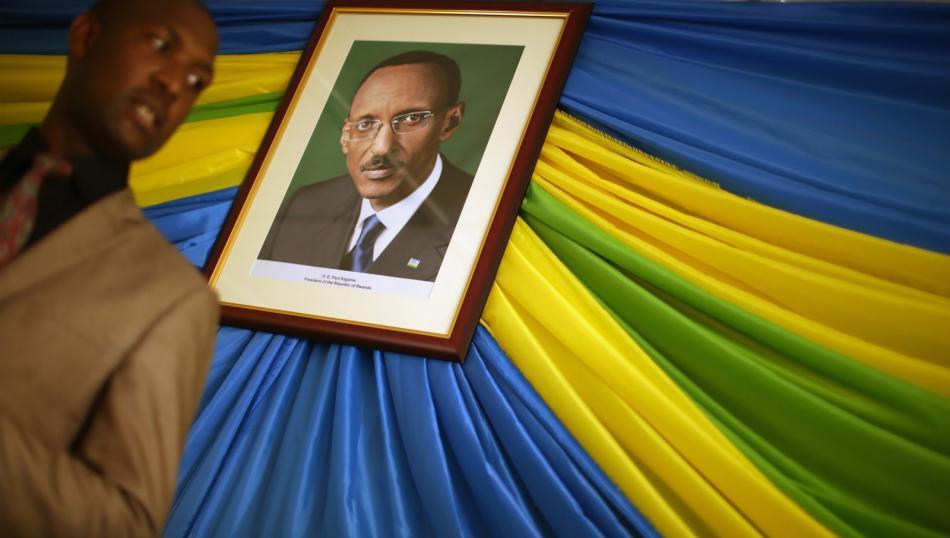 Portrét rwandského prezidenta Paula Kagameho
