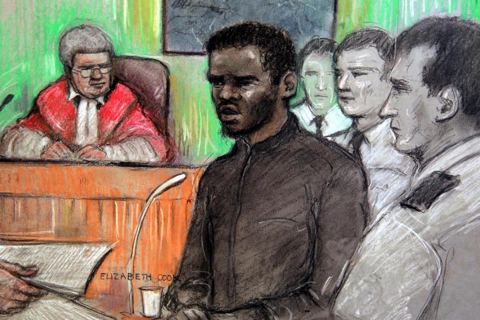 Michael Adebolajo před soudem