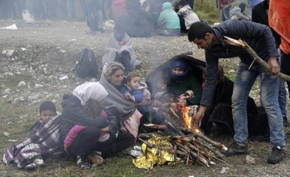 Uprchlíci u chorvatsko-srbské hranice