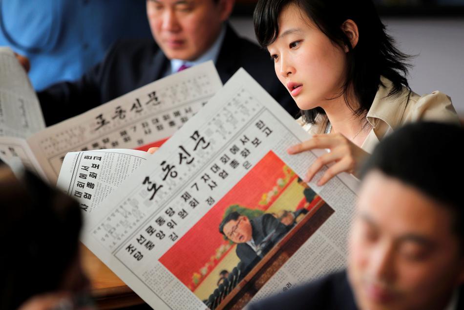 Zahraniční zpravodajové na sjezdu Korejské strany práce