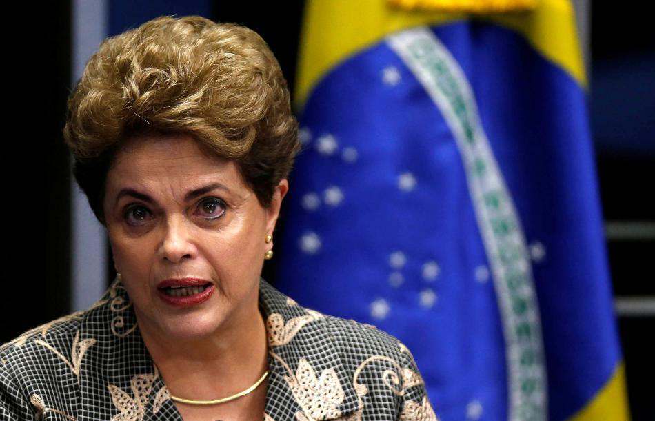 Dilma Rousseffová před Senátem