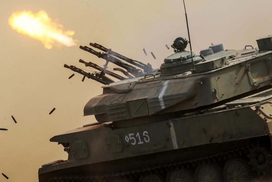 Cvičení ruské armády na Krymu