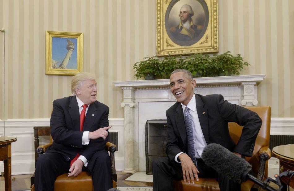 Prezident Obama a prezident Trump