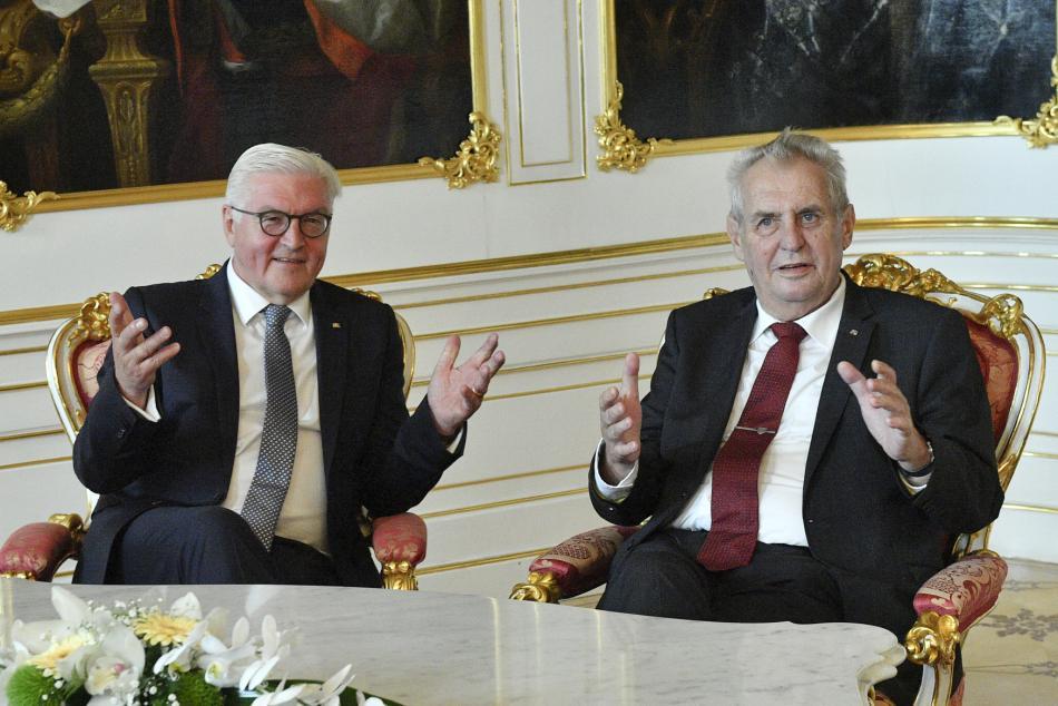 Frank-Walter Steinmeier a Miloš Zeman