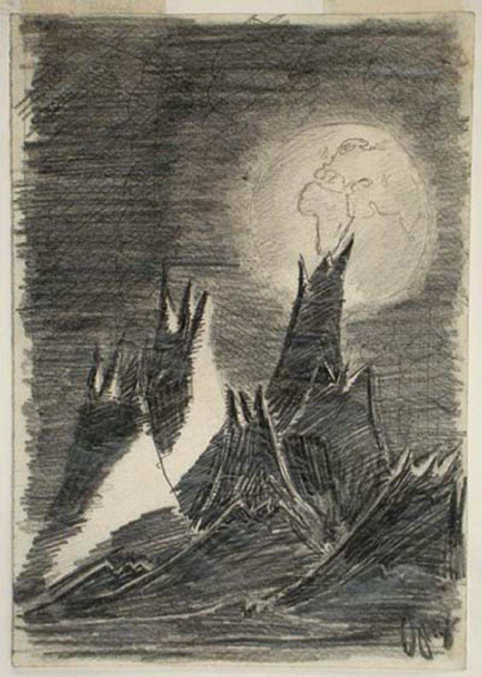 Měsíční krajina Petra Ginze