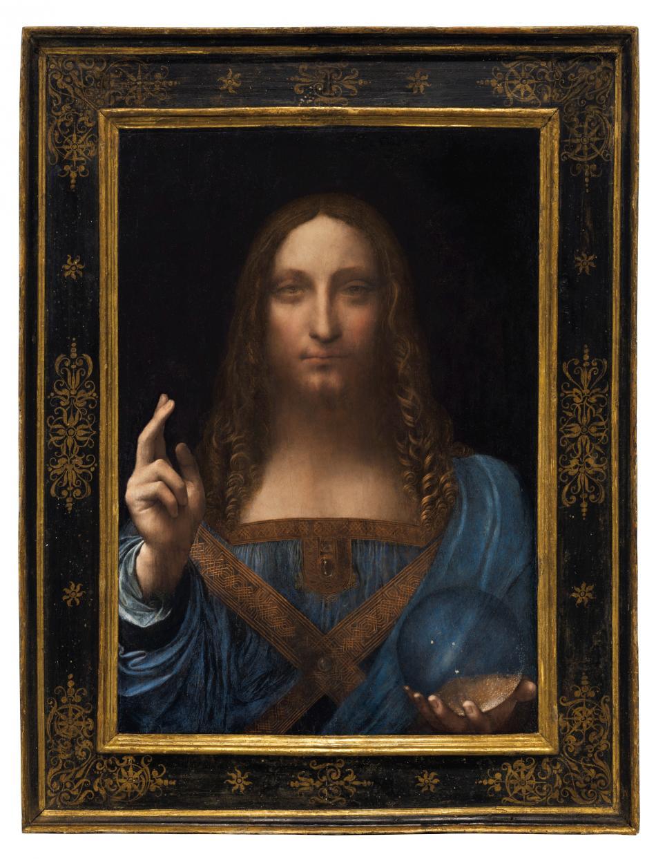 Da Vinciho obraz Spasitel světa