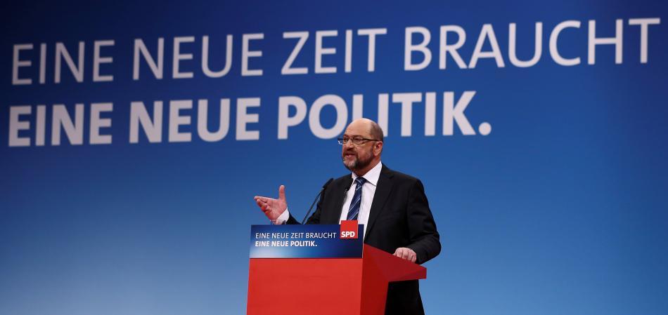 Martin Schulz na stranickém sjezdu