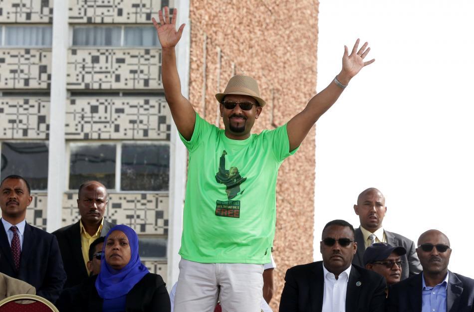 Projev etiopského premiéra Ahmeda přerušil útok granátem