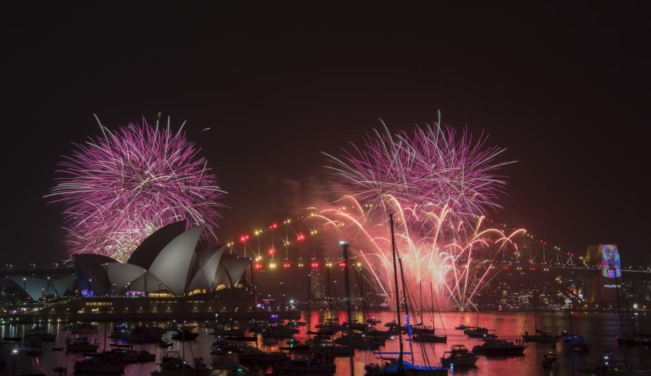 Oslavy příchodu roku 2019 v australském Sydney