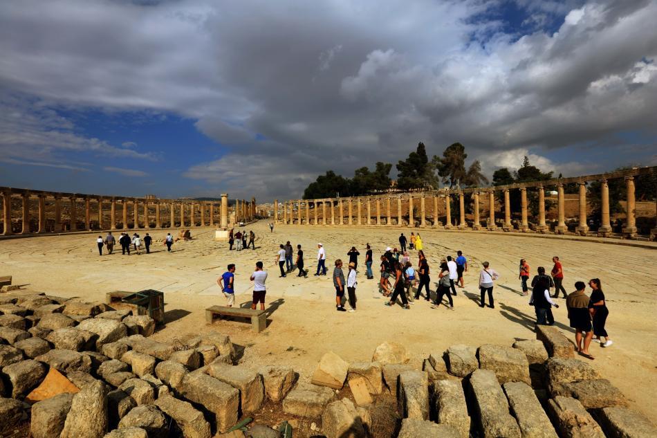 Římské památky ve městě Džaraš